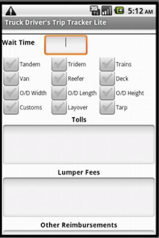 Trucker's Trip Tracker- screenshot