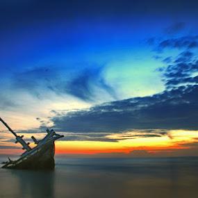 'Yang Tersisa..' by Bambang Leksmono - Landscapes Waterscapes