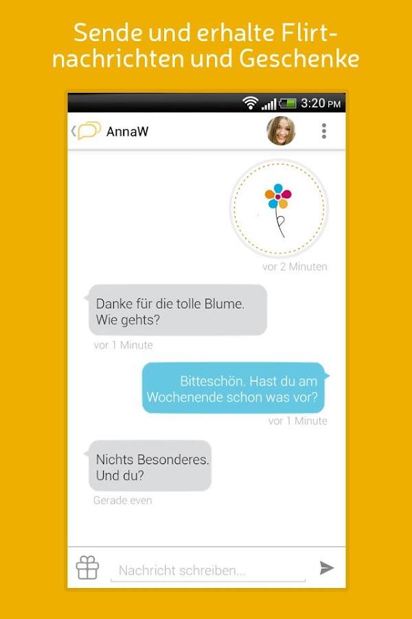 single.de App - mobil Flirten & neue Leute finden