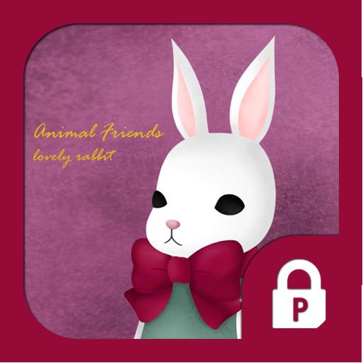 animal friends(러블리래빗)프로텍터테마 LOGO-APP點子