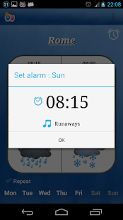 Alarm Weather (Alarm Clock) Screenshot 2