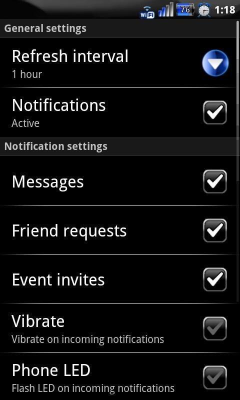 Red Socialize for Facebook - screenshot