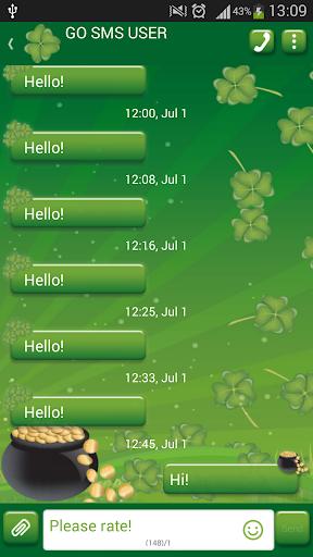 GO SMS Proのアイリッシュ