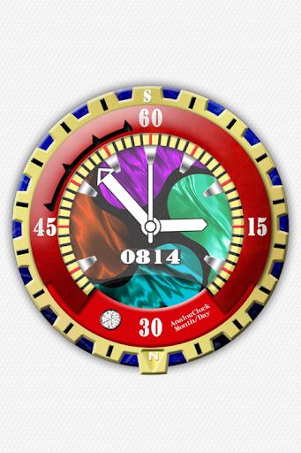 設計模擬時鐘壁紙 - No08