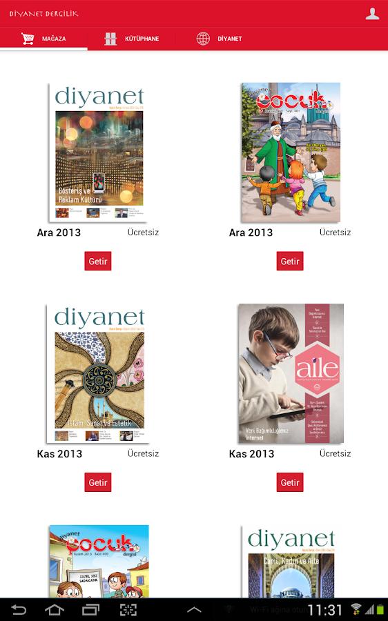 Diyanet Dergileri (2013 Yılı) - screenshot