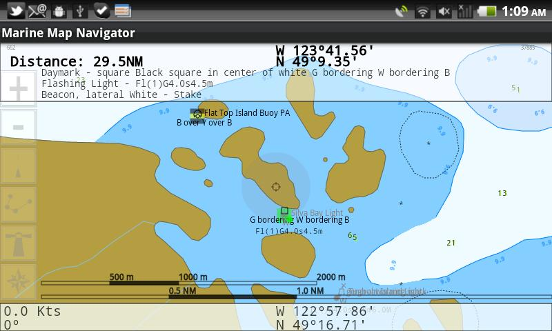Mobile Marine Navigator - screenshot