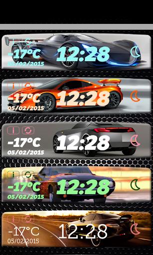 汽車时钟和天气小工具