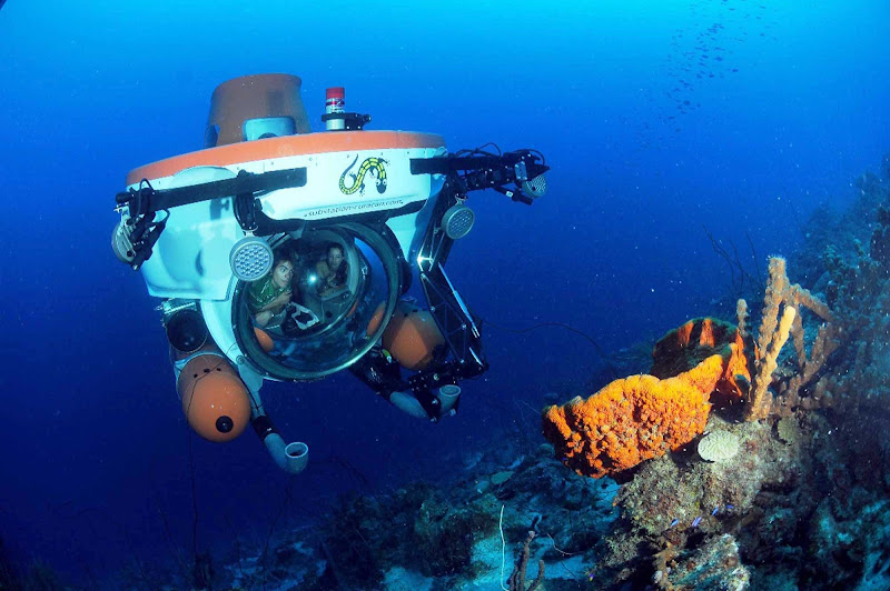 Substation Curacao's Curasub, a certified mini-submarine for tourists, reaches sea depths of 1,000 feet.