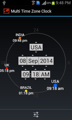Multi Time Zone Clock