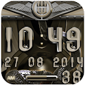 beige snake digital clock icon