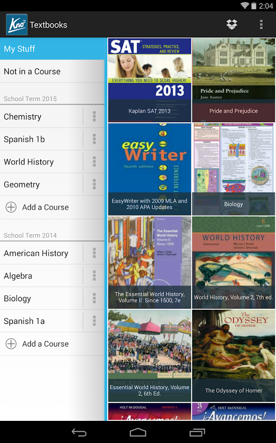 Kno Textbooks - screenshot