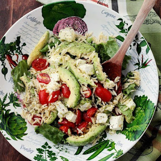 Avocado and Feta Cheese Orzo Salad
