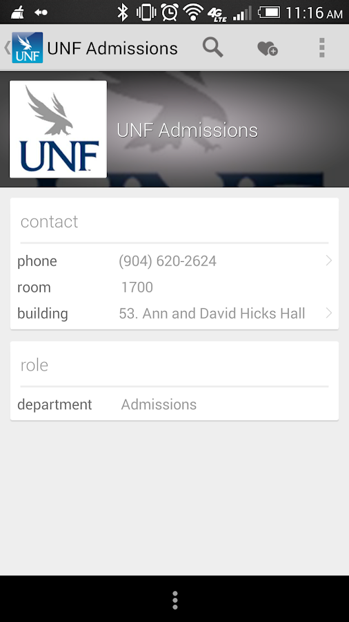 UNF Mobile - screenshot
