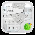 GOKeyboard Crystal White Theme icon