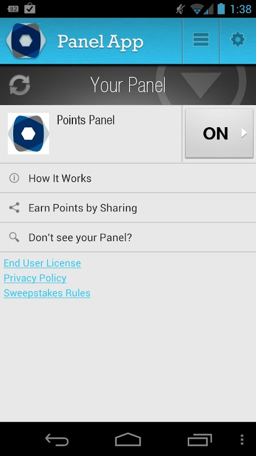 Panel App - Rewards and Prizes - screenshot