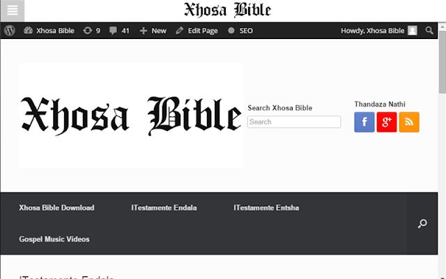 Xhosa Bible - screenshot