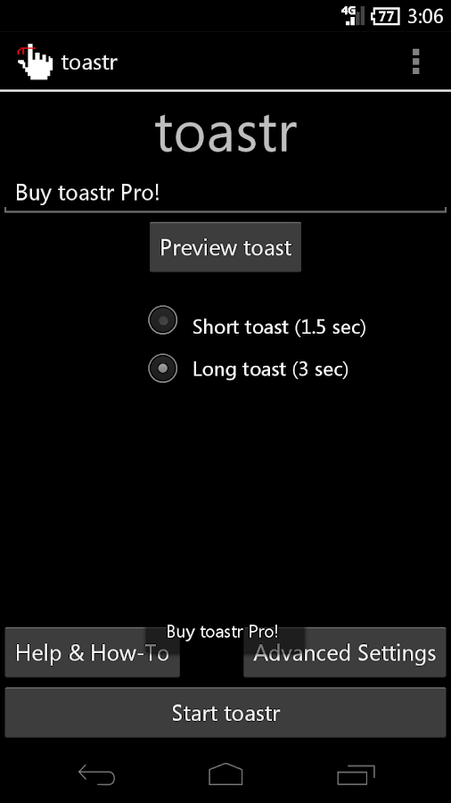 toastr - The Ultimate Reminder- screenshot