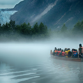 Into the fog of the Davidson Glacier by Brent Morris - Landscapes Travel (  )
