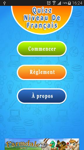 Quizz Niveau de Français