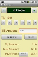 Screenshot of Tip Calculator