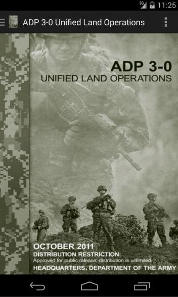 ADP 3-0 Unified Land Ops - screenshot