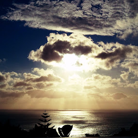 Sunset by Lejla Hadziabdic - Landscapes Sunsets & Sunrises ( #sunset #africa #capetown #view #clouds #ocean )