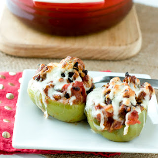 Sausage & Peppers Stuffed Peppers.