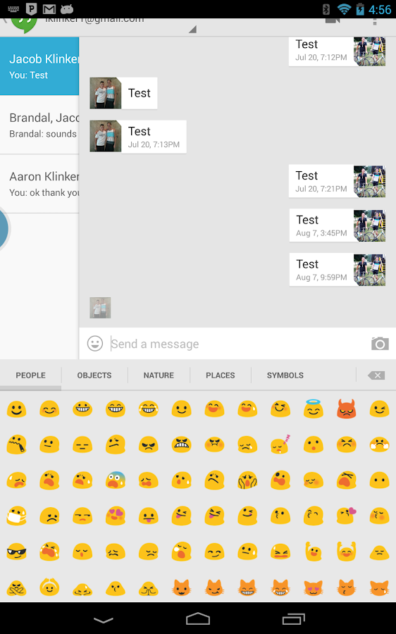 Sliding Emoji Keyboard Unlock - screenshot