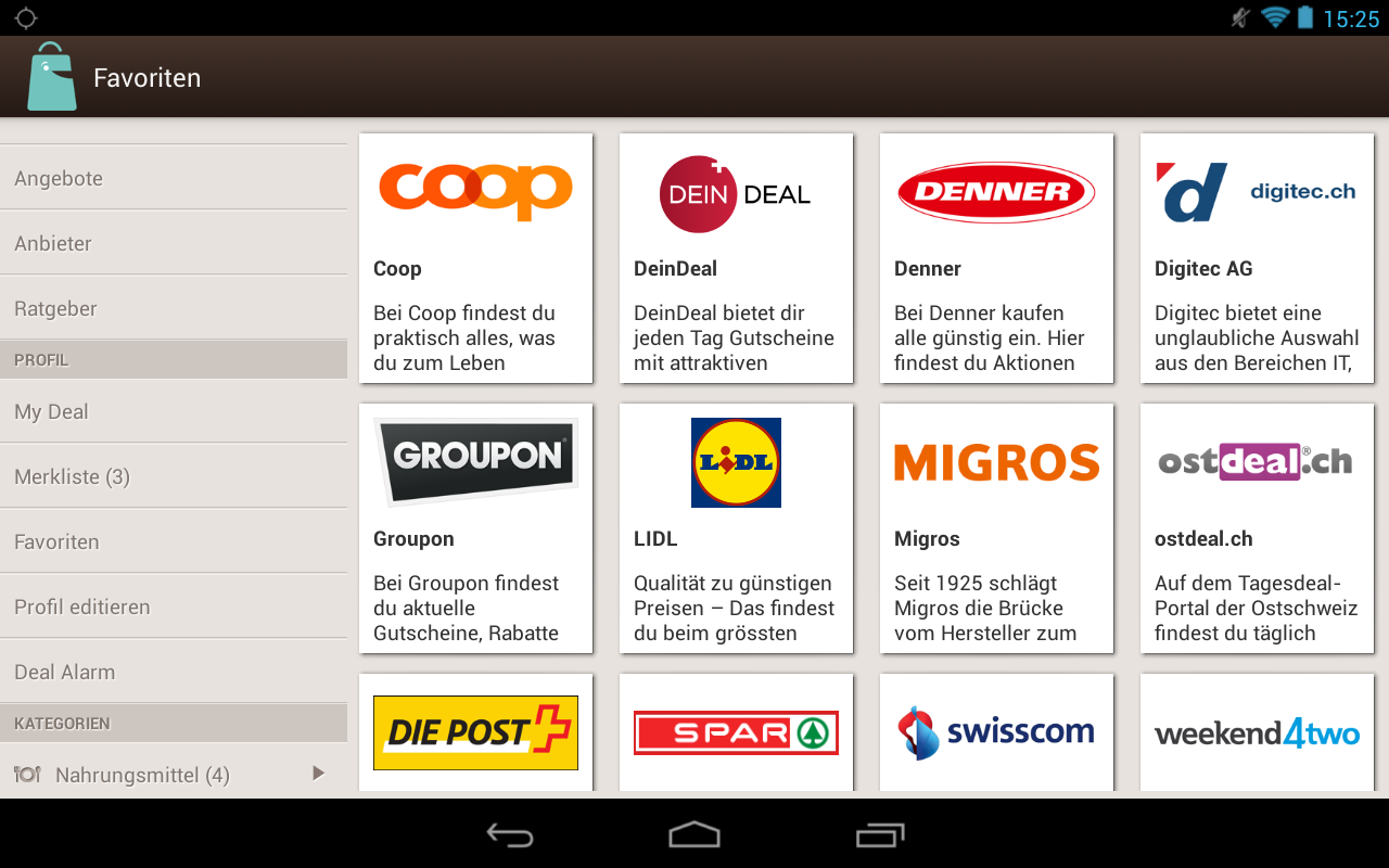 Deal.ch – Screenshot