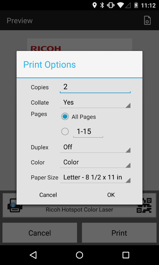 HotSpot Printing- screenshot