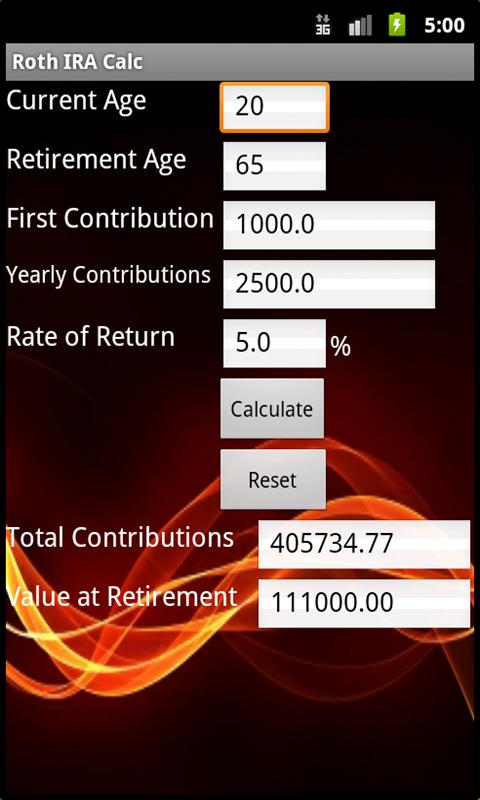 Roth IRA Calculator  Android Apps on Google Play