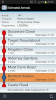 Screenshot of Live London Bus Tracker