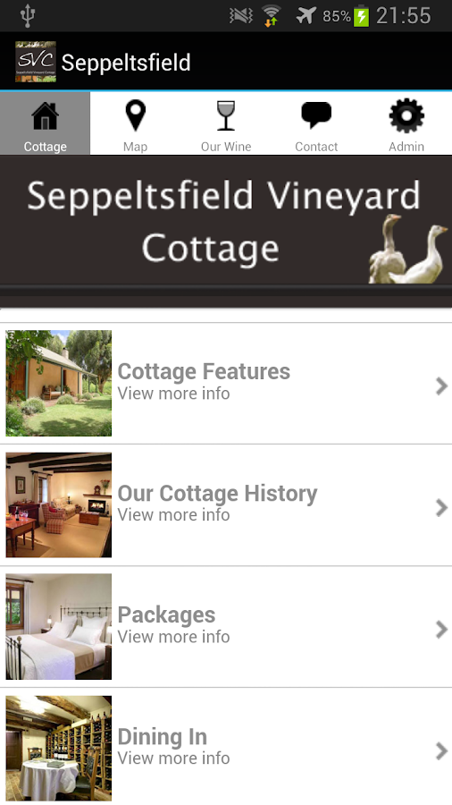 Seppeltsfield Vineyard Cottage- screenshot