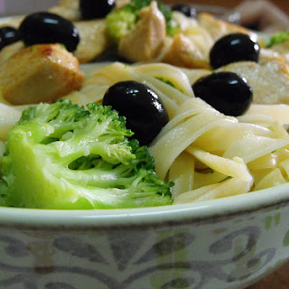 Chicken and Broccoli Tagliatelle.