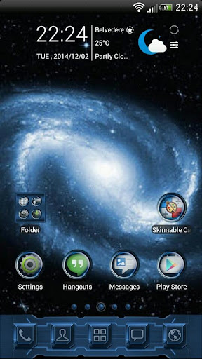 Blue Galaxy GO Launcher Theme
