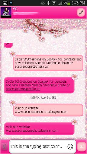 GO SMS - Sakura Love