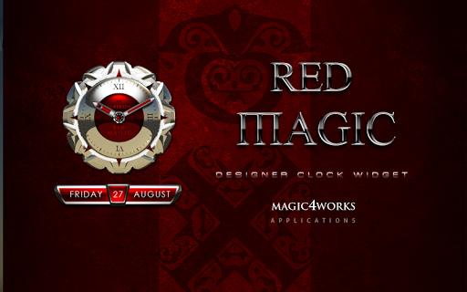 Red Magic Clock Widget