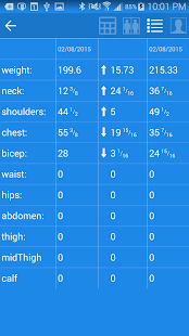 Fitness Dashboard screenshot