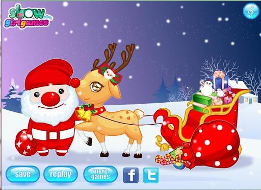 Christmas Reindeer And Santa