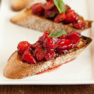 Strawberry Bruschetta.