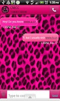 Screenshot of GO SMS - PinkCheetahButterfly2