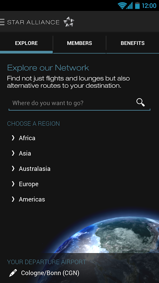 Star Alliance Navigator - screenshot