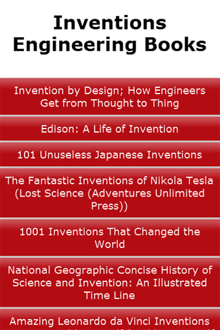 Inventions Engineering Books