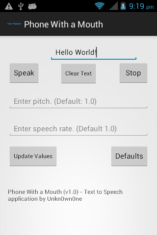 Phone With a Mouth