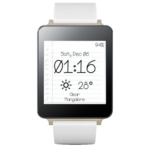 Scribble wear watchface