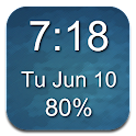 1x1 Clock and Battery Widget icon