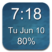 1x1 Clock and Battery Widget