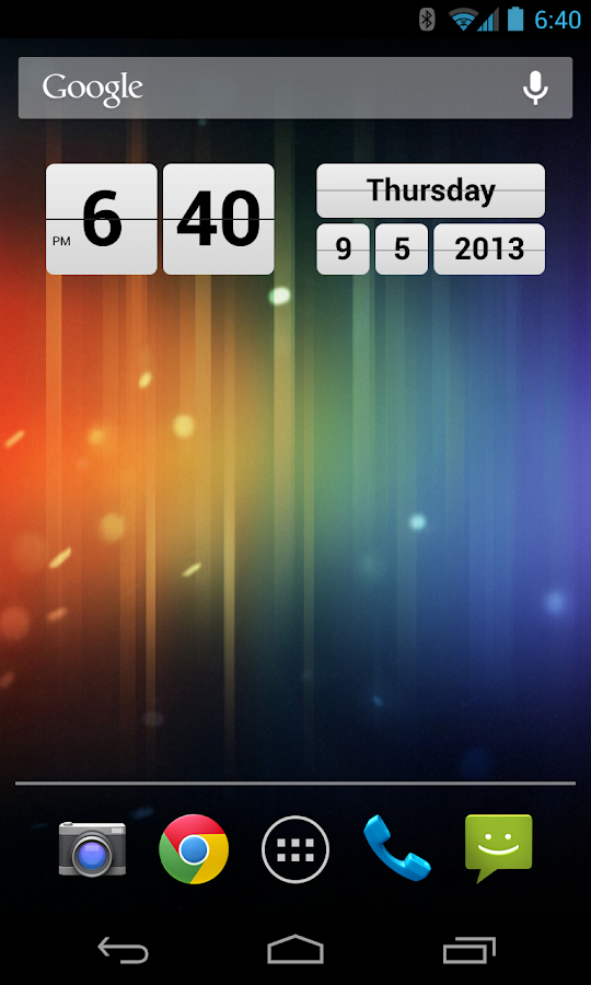 Retro Clock Widget - screenshot