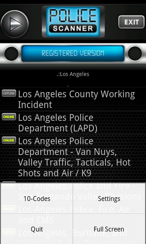 Police Scanner Radio PRO- screenshot