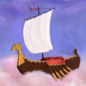 Flying Ship russian folk tale icon